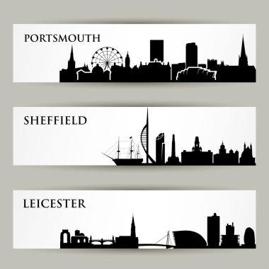 England skylines banners