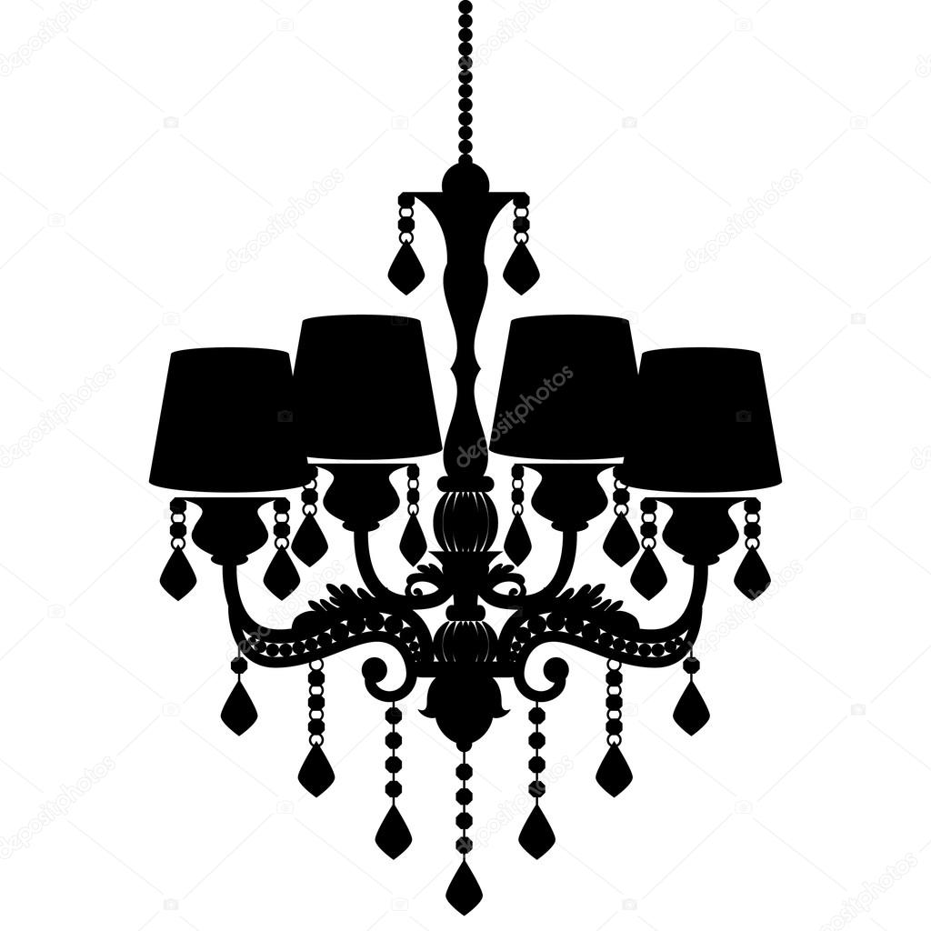 Chandelier silhouette isolated on white background stock vector chandelier silhouette isolated on white background stock vector aloadofball Gallery