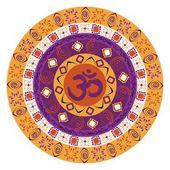 Barevné mandaly s om symbolem