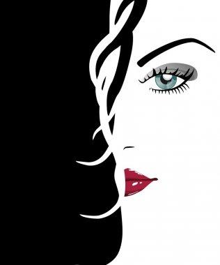 Beautiful woman's face