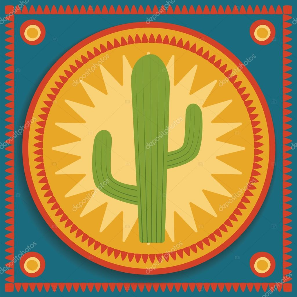 cactus on stylized background