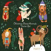 Weihnachtswaldtiere.