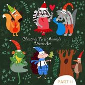 Weihnachten-Waldtiere.