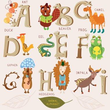 Cute animal alphabet.
