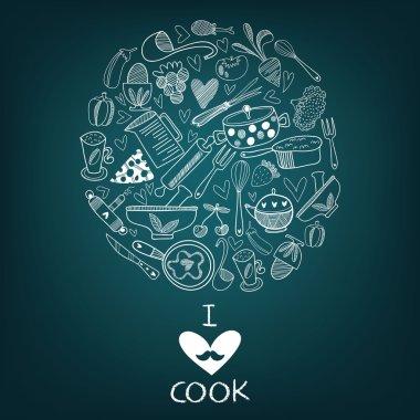 I love cook card design.