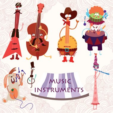 Music Instruments with rabbit