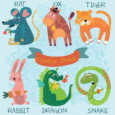 Cute Chinese Zodiac-set.