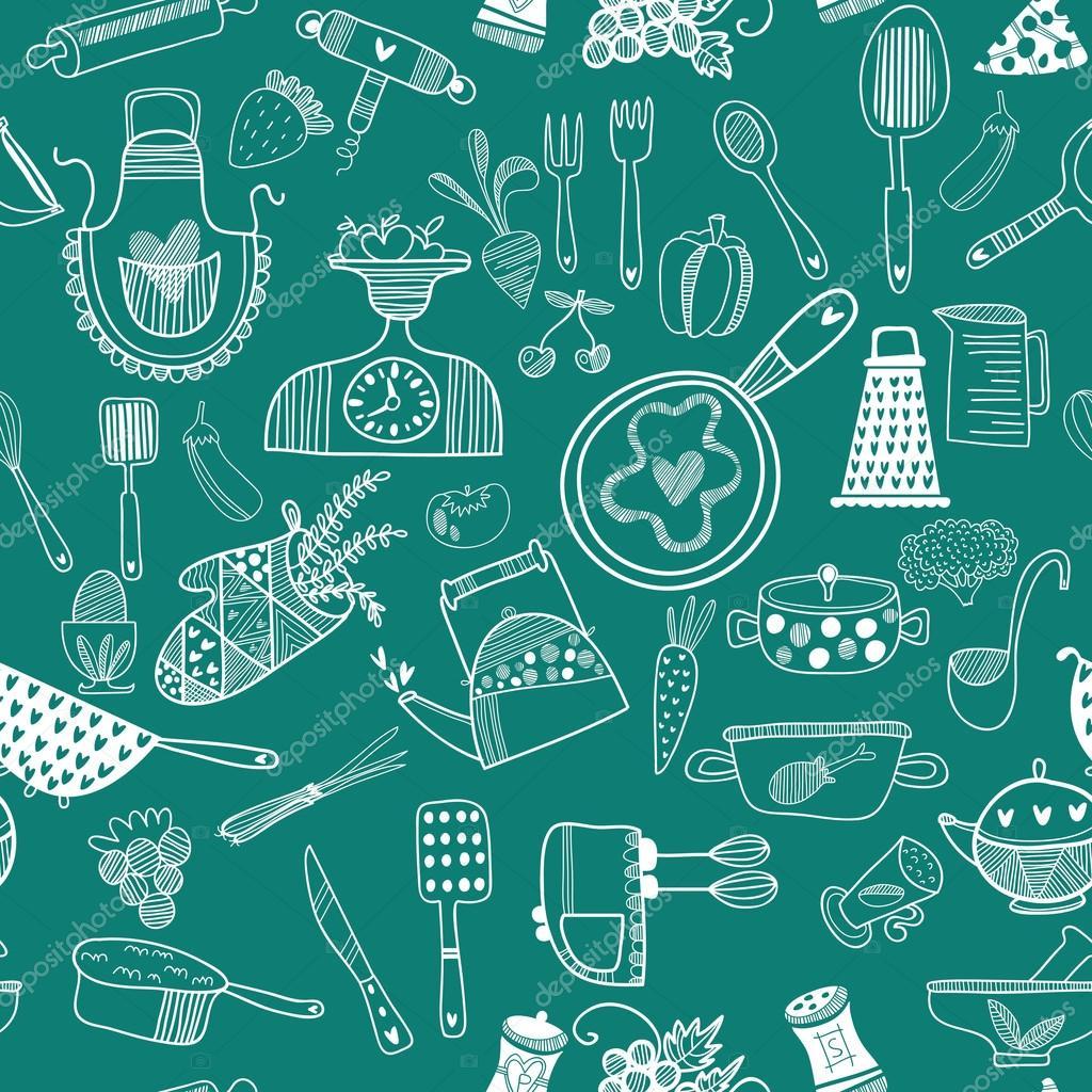 Fondo de alimentos de cocina archivo im genes for Utensilios de cocina fondo
