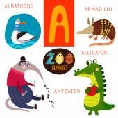 Fotografie Cute zoo alphabet