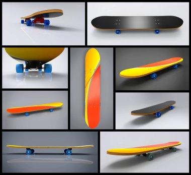 Skateboard Collage