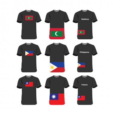 Asia and Oceania T-shirts for Maldives-Philippines-Taiwan