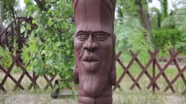 wooden statue of ancient god