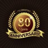 Fotografie 80 Jahre Jubiläum feiert, goldenen Lorbeerkranz versiegeln mit goldenen Band