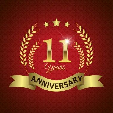11 Years Anniversary Seal