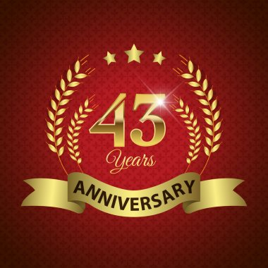 43 Years Anniversary Seal