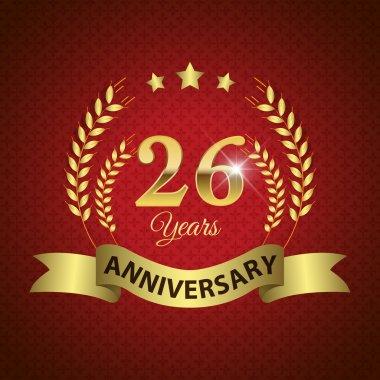 26 Years Anniversary Seal