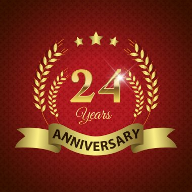 24 Years Anniversary Seal