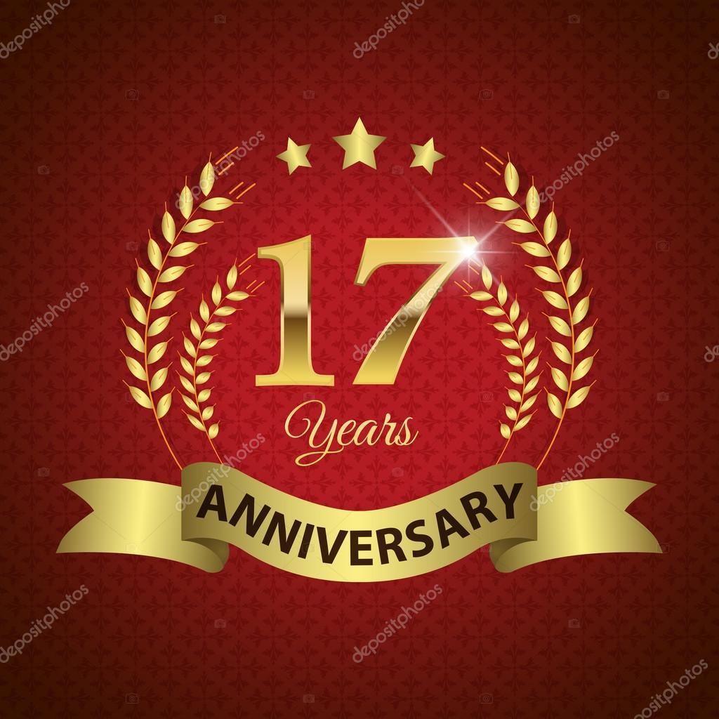 Anniversario Di Matrimonio 17 Anni.Vettoriali Stock Diciassette Anni Illustrazioni Diciassette Anni