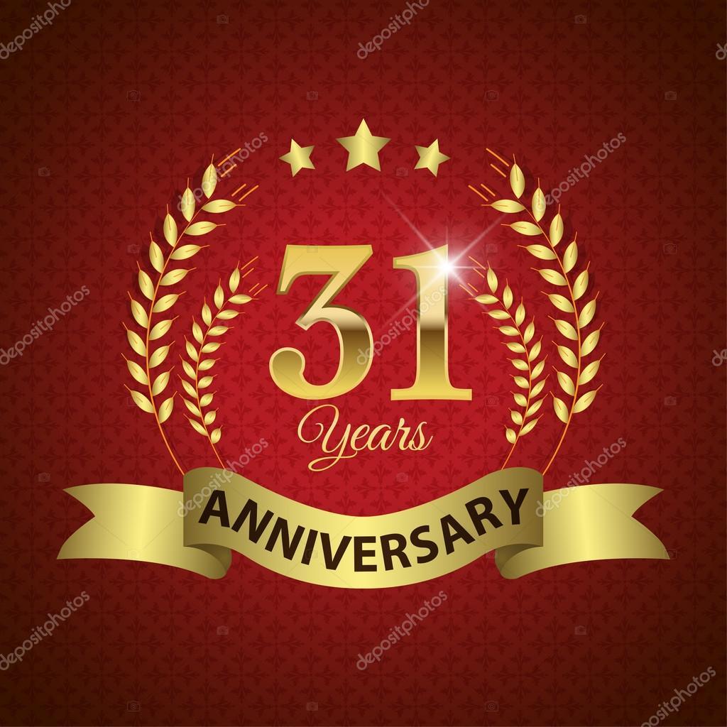 Anniversario Di Matrimonio 31 Anni.31 Years Anniversary Seal Stock Vector C Harshmunjal 59522663
