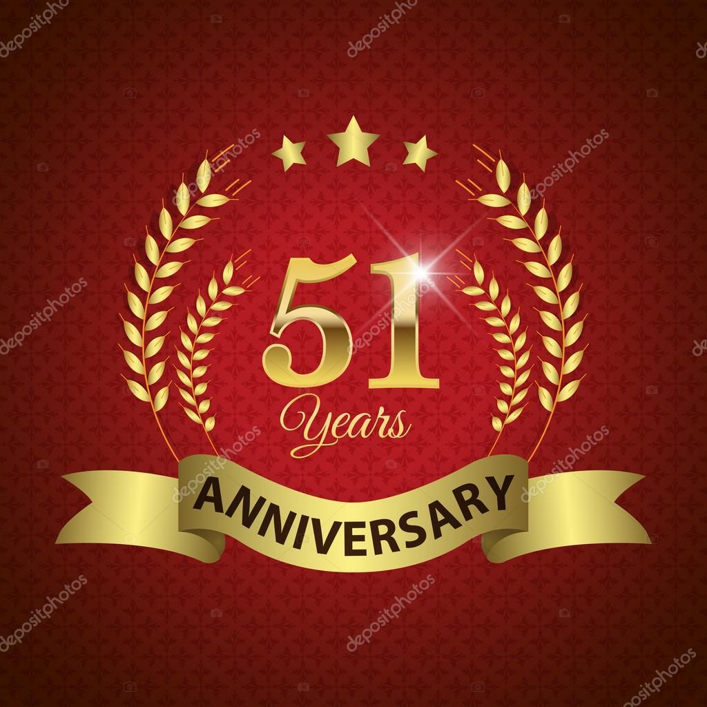 Anniversario Di Matrimonio 51 Anni.51 Years Anniversary Seal Stock Vector C Harshmunjal 59522857