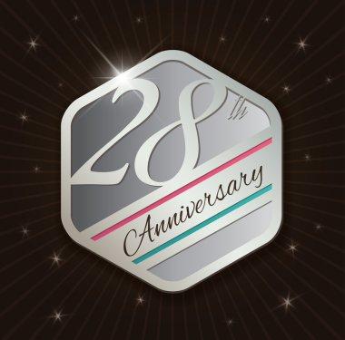 28th Anniversary badge design