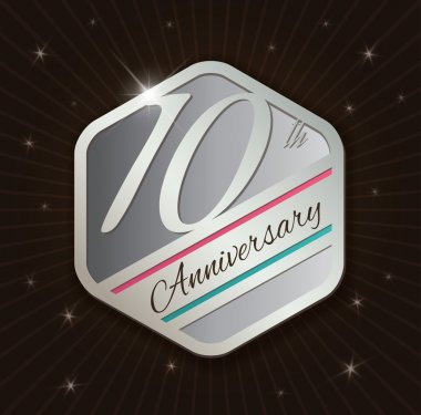 10th Anniversary badge design