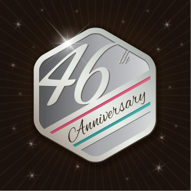 46th Anniversary Classy and Modern silver emblem