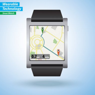 GPS Map Directions on SmartWatch
