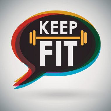 Speech bubble - KEEP FIT