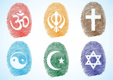Thumb Prints showing different Religious