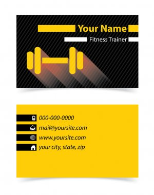 Business, visiting card for personal trainers .