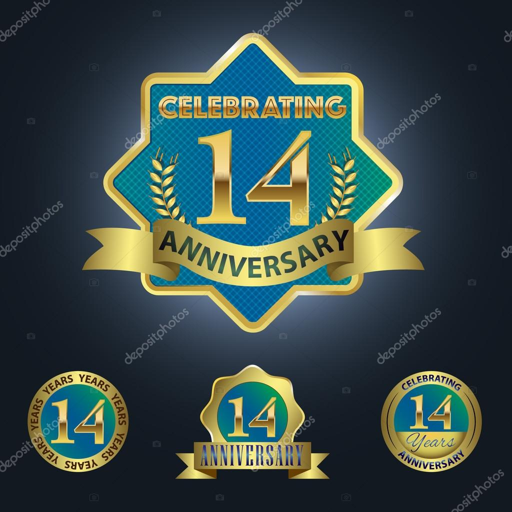 14 Years Anniversary Stock Vectors Royalty Free 14 Years