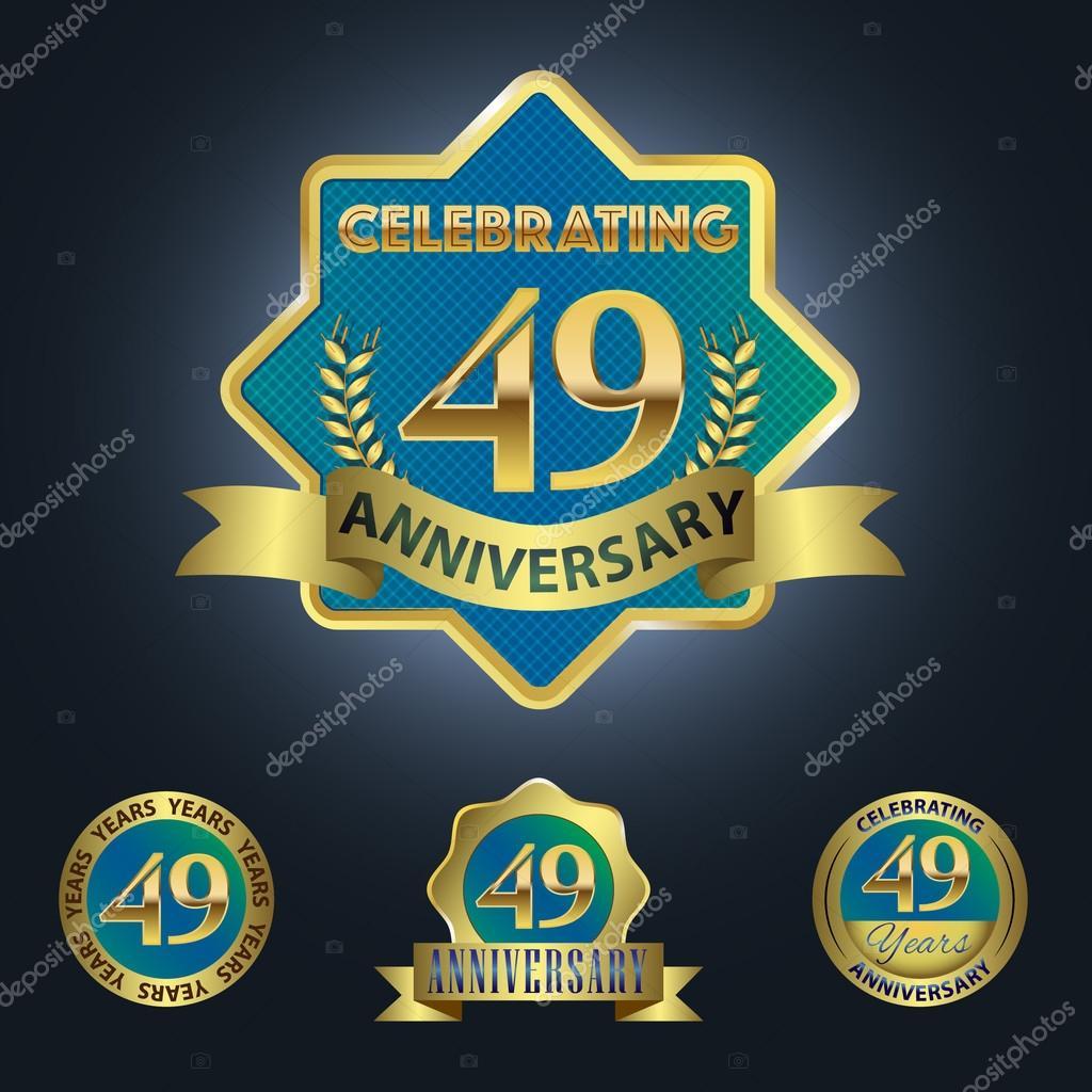 49 Jaar Verjaardag Vieren Stockvector C Harshmunjal 64050245
