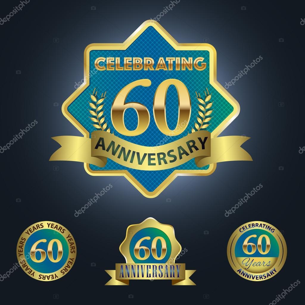 60 Jaar Verjaardag Vieren Stockvector C Harshmunjal 64050465