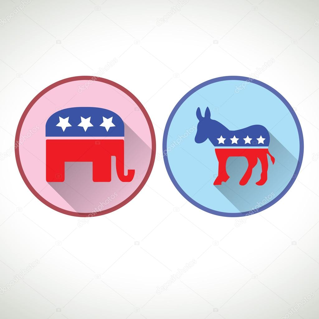 Republic party and democratic party symbol stock vector republic party and democratic party symbol stock vector biocorpaavc Image collections