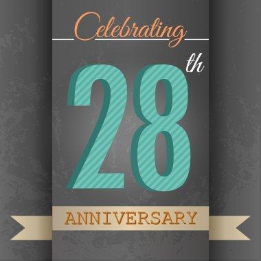 28th Anniversary poster , template design