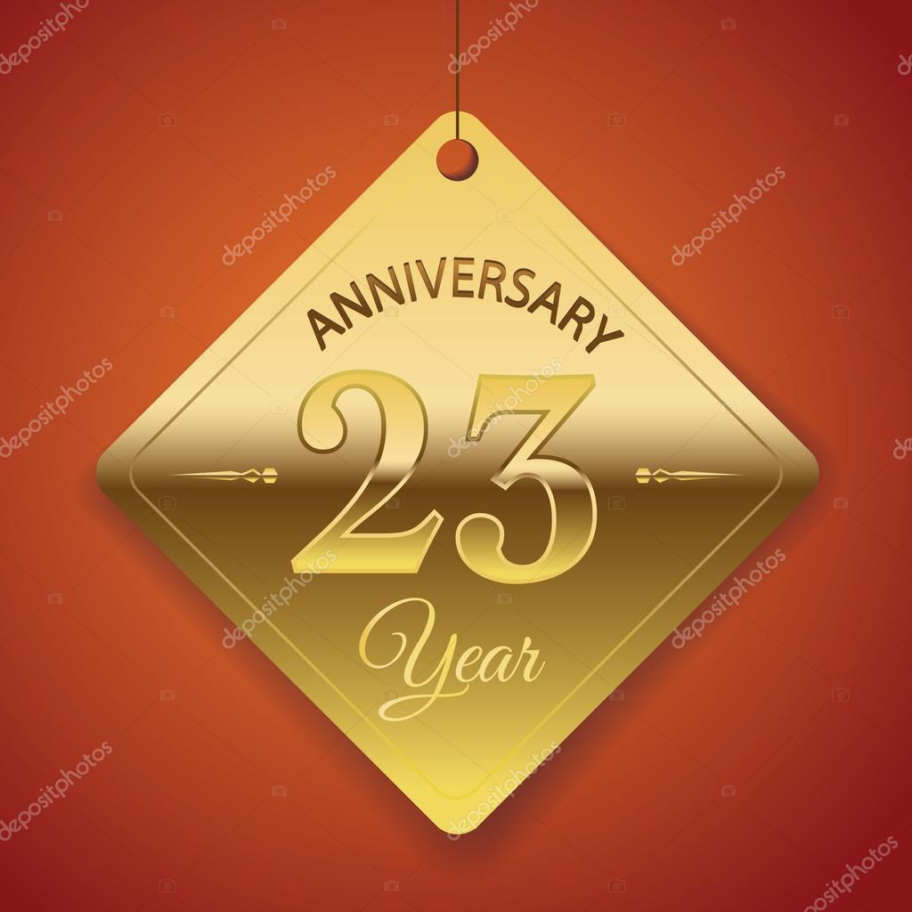 23 Anniversario Di Matrimonio.23 Years Anniversary Poster Stock Vector C Harshmunjal 69244655