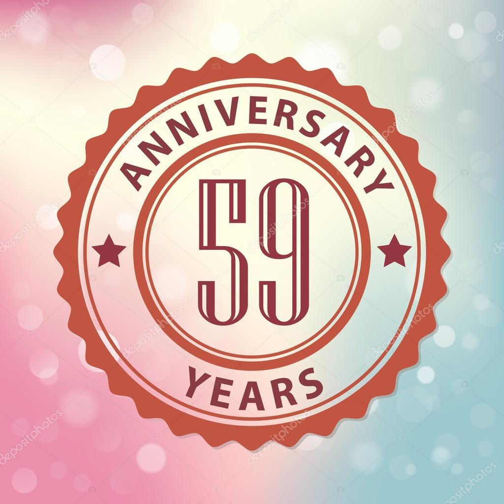 59 Years Anniversary Stock Vector C Harshmunjal 69244667