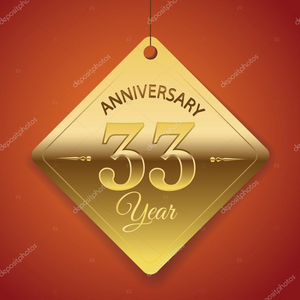 33 Anniversario Di Matrimonio.33 Years Anniversary Poster Stock Vector C Harshmunjal 69245019