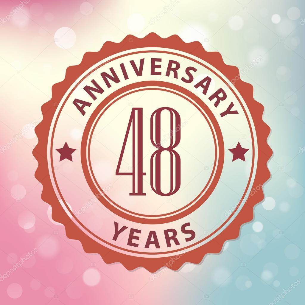 48 Jaar Verjaardag Stockvector C Harshmunjal 69245395