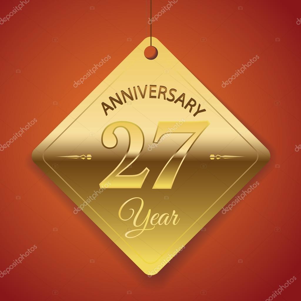 27 Anniversario Di Matrimonio.27 Years Anniversary Poster Stock Vector C Harshmunjal 69245413