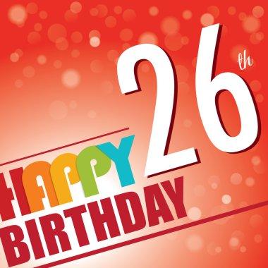 26th Birthday party invite