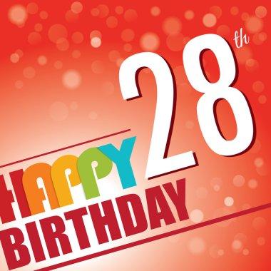 28th Birthday party invite