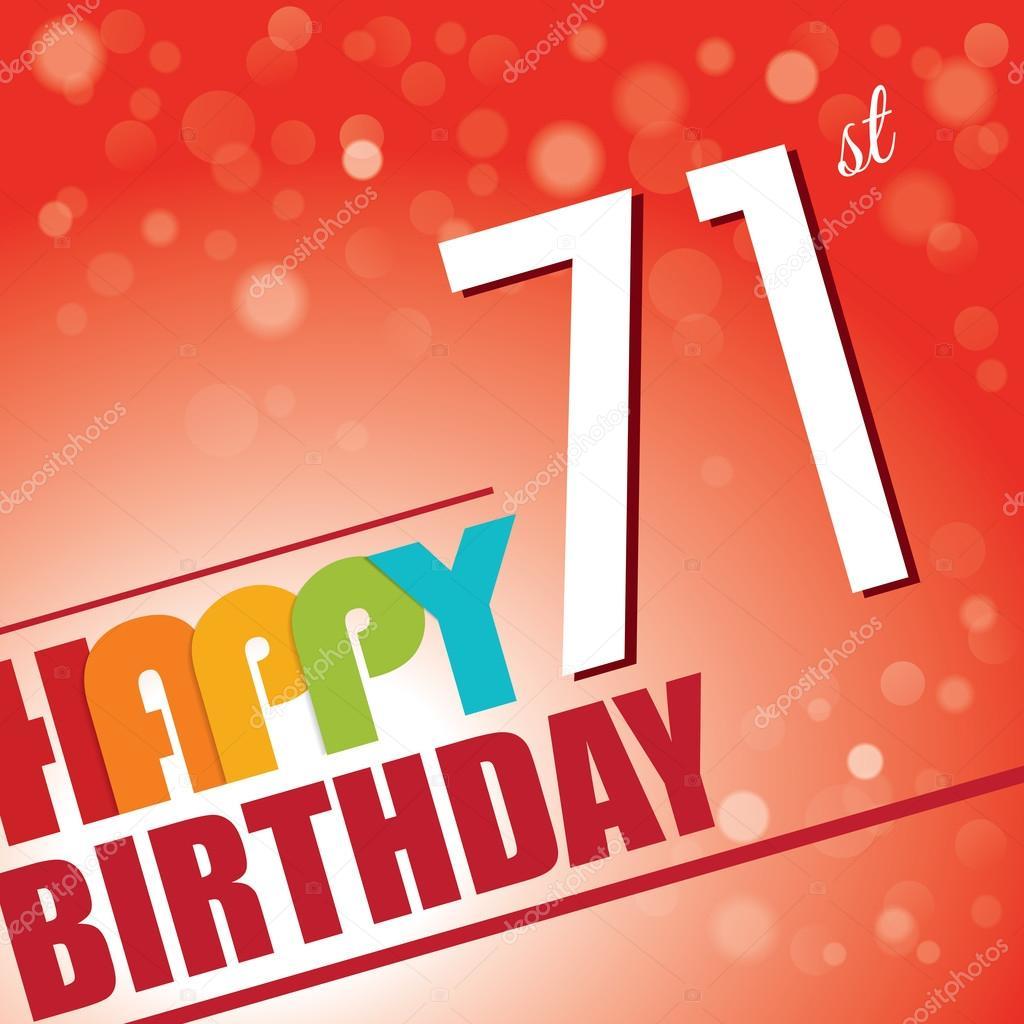 71st Birthday Party Invite Stock Vector C Harshmunjal 69787889