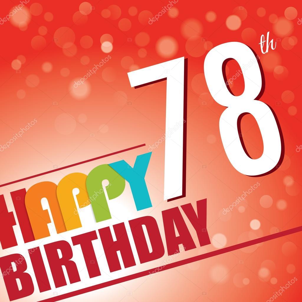 78th Birthday Party Invite Stock Vector C Harshmunjal 69787945