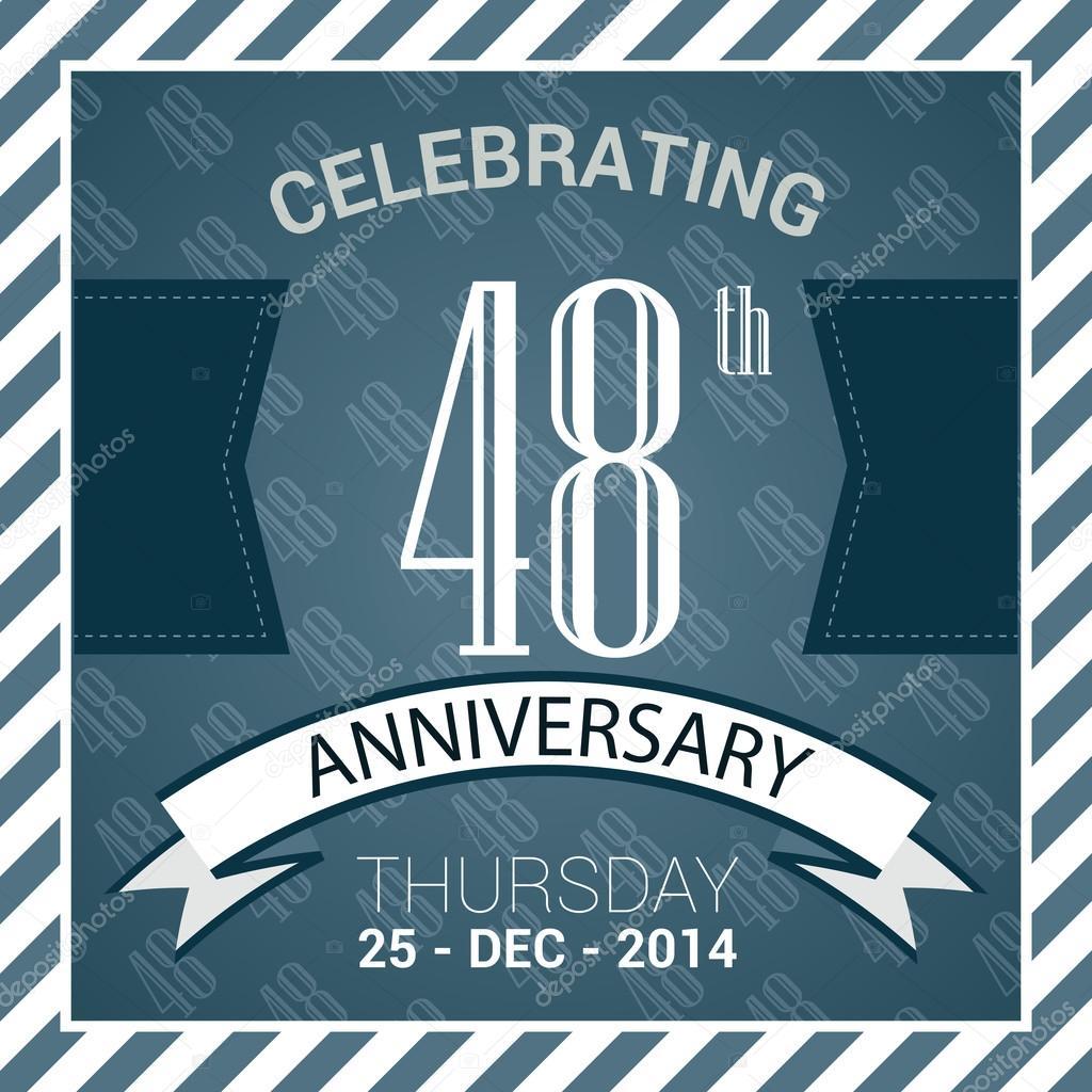 48e Verjaardag Poster Stockvector C Harshmunjal 69788133