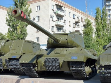 Soviet heavy IS-2 tank