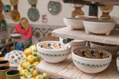 Decorated ceramic teacups