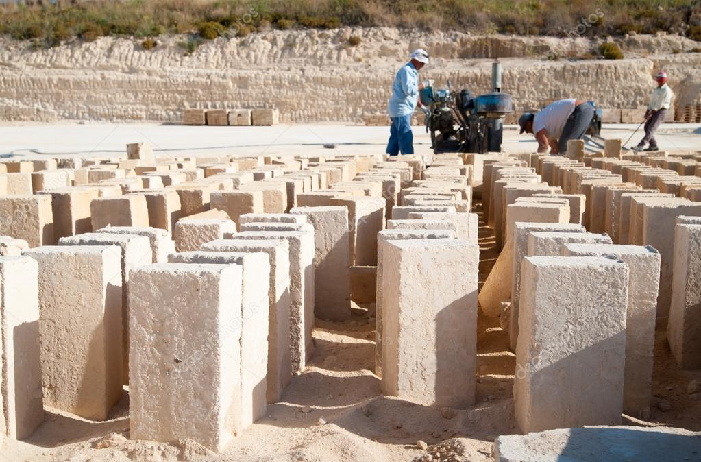 Tufa stone quarry