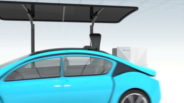 Animation of electric vehicle charging station for public space
